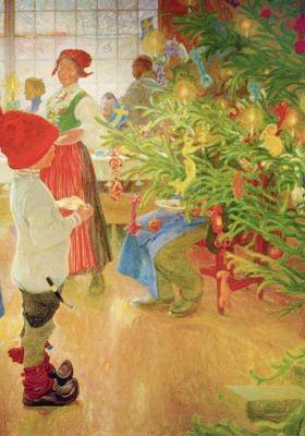 Carl Larsson. Nun ist es wieder Weihnachten, 1907