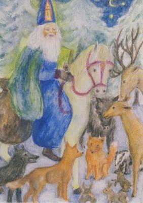 Ilona Bock. Nikolaus bei den Tieren
