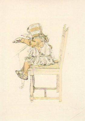 Carl Larsson. Lisbeth ißt Grütze, 1894. KK