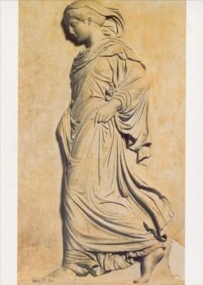 """Schreitende Athena. Kunstdruck """"E"""""""