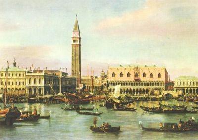 Antonio Canal. (Canaletto). Venedig, Piazzetta und Riva