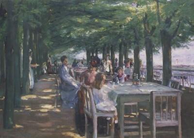 Max Liebermann. Terasse i.Restaurant Jacob/Niestedt./Elbe.KK
