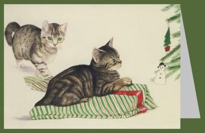 Joan Freestone. Zwei Katzen