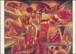 Paul Klee. Felsenlandschaft mit Palmen und Tannen, 1919