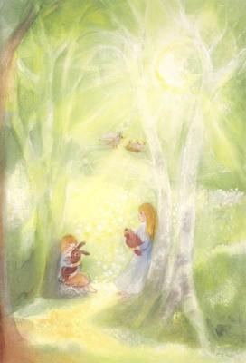 Marie-Laure Viriot. Frühlingslicht, KD ca. DIN A3.