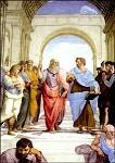 Raffael. Platon und Aristoteles, Ausschnitt. KK