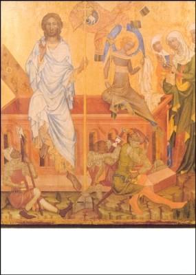 Meister von Vyssi Brod. Auferstehung. 14. Jh. KK