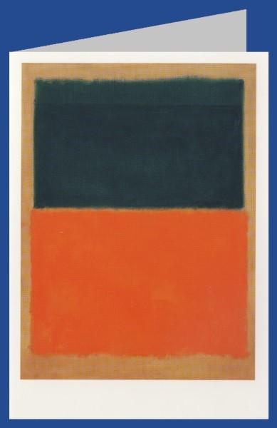 Mark Rothko. Grün und Mandarinfarben auf Rot