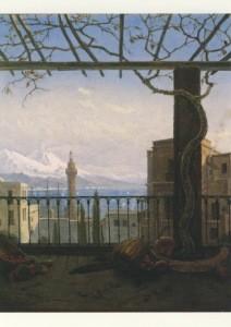 Carl Gustav Carus. Neapel mit Monte Somma und Vesuv. 1831