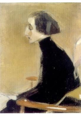 Helene Schjerfbeck. Die Näherin (Die Arbeiterin), 1927. KK
