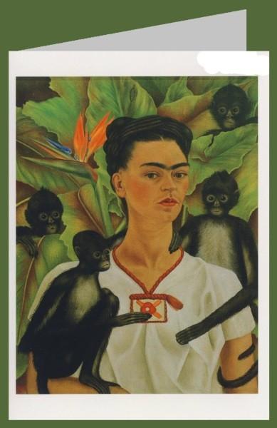 Frida Kahlo. Selbstbildnis mit Affen, 1943