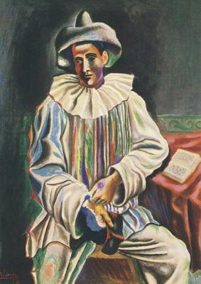 Picasso, P. Sitzender Pierrot. KK