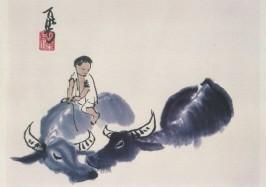 Yan, Li K´e. Boy with two water-buffaloes. KK