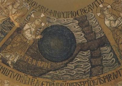 Trennung von Wasser und Erde, um 1220-1300. KK