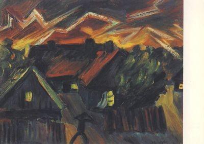 Max Pechstein. Gewitter im Dorf/Nidden, 1919/20