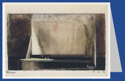 Lyonel Feininger. Drei Segelboote, 1926. DK