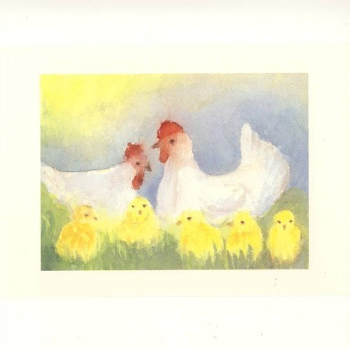 Bühler, E. Hühner auf der Wiese. KK