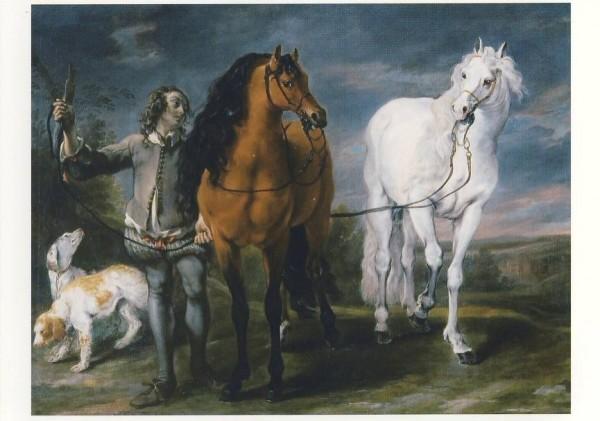 Fyt, Jan. Reitknecht mit zwei Pferden und Hunden, 1640/45.KK