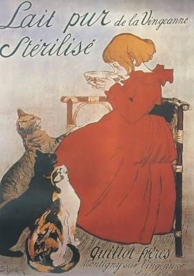 Steinlen, Alexander. Werbeplakat für Milch. KK