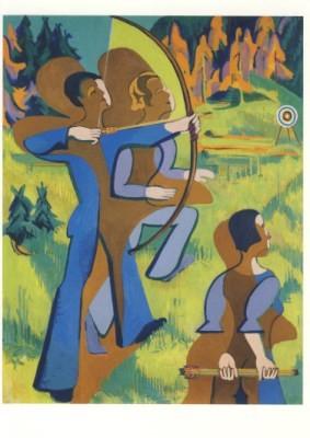 Ernst Ludwig Kirchner, Bogenschützen, 1935