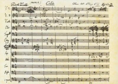 Schubert,F.Das Beginn des Credos a.Schuberts erster Messe.KK