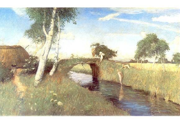 Modersohn, Otto. Sommer am Moorkanal, 1896. KK