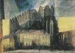 Lyonel Feininger. Der Dom in Halle, 1941. KK