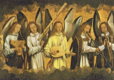 Hans Memling. Musizierende Engel
