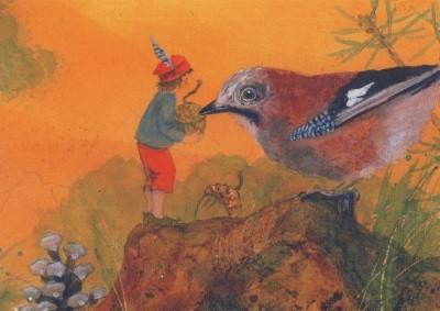 Daniela Drescher. Kleine Elf mit Vogel