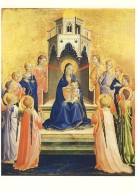 Fra Angelico. Thronende Madonna mit Kind, von Engeln umgeben