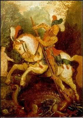 Oberrheinischer Meister. Der heilige Georg, um 1520. KK