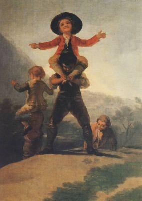 Goya, F. Kinder reiten aufeinander. KK