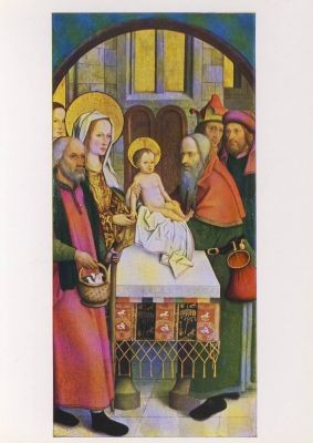 Zeitblom, Bartolomaeus. Jesus im Tempel, Heerberger Altar