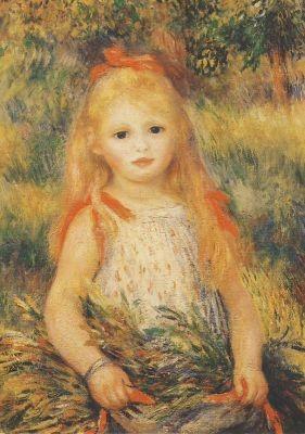 Mädchen mit Garbe, 1888, Renoir