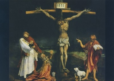 Grünewald, M. Kreuzigung Christi, Isenheimer Altar. KK