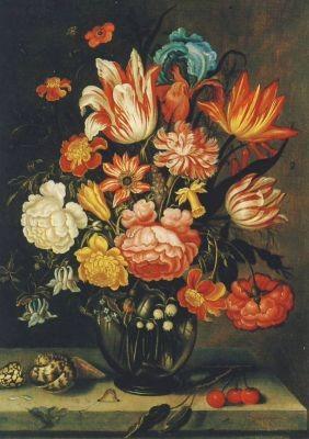 Still. m. Blu. in Vase, Borschaert
