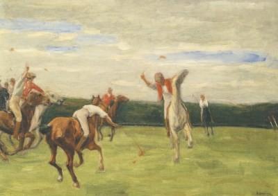 Max Liebermann. Polospieler in Jenischs Park, 1903