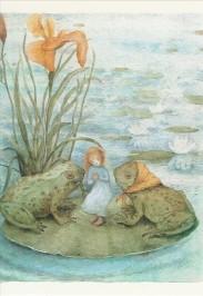 Kaila, K. Andersen 1, Mädchen mit Fröschen. KK
