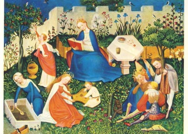 Oberrheinischer Meister. Paradiesgärtlein um 1410. KK
