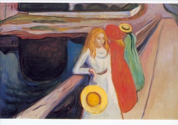 Edward Munch. Mädchen auf der Brücke, 1900. KK