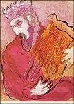 Marc Chagall. David mit der Harfe. KK