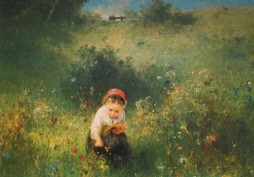 Knaus, L. Ein Mädchen auf dem Feld, 1857. KK