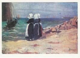 Elisabeth Büchsel. Hiddenseer Fischerfrauen am Strand, 1900