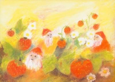Bühler, E. Zwerge bei den Erdbeeren.
