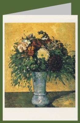 Paul Cézanne. Blumenstrauß in blauer Vase. 1873-75