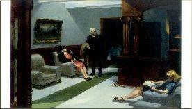 Edward Hopper. Hotel Lobby, 1943. KK