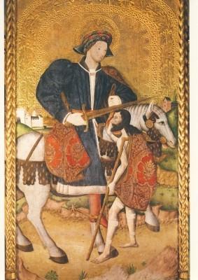 Gotische Malerei. Sankt Martin. XV. Jh. KK