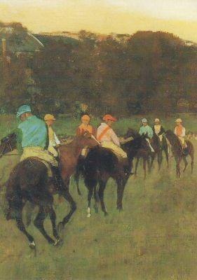 Edgar Degas. Rennpferde in Longchamp, 1873-75. KK