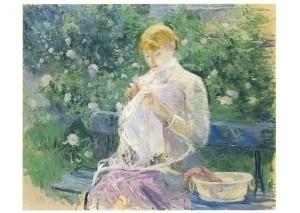Berthe Morisot. Pasie näht im Garten von Bougival, 1881