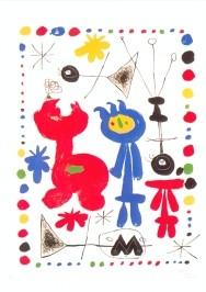 Joan Miró. Figur und Vögel, 1948. KK